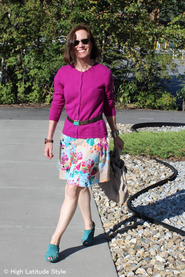 mature style getting more wear out of my closet by styling summer items for fall