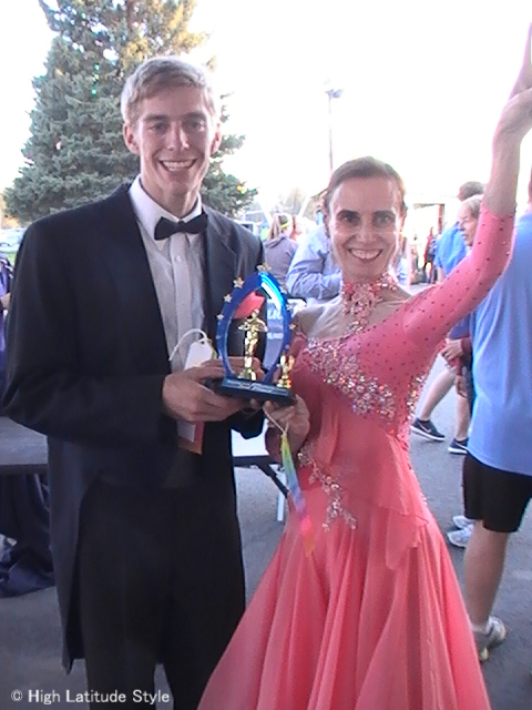 #over50 winning third prize at Dancing with the Fairbanks Stars