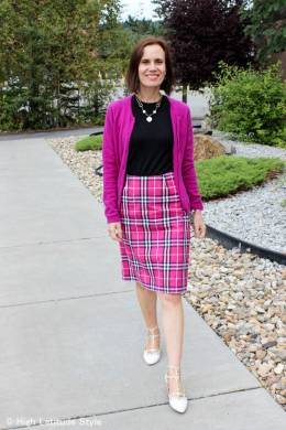 How to look your best in plaid over 40 High Latitude Style  fashionover40  fashionover50 How to wear plaid over40  example plaid skirt    High Latitude