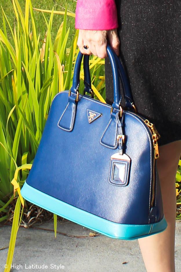 #fashionover40 #fashionover50 Prada bag | High Latitude Style | http://www.highlatitudestyle.com