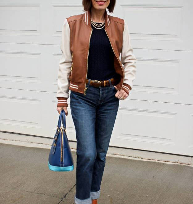 #fashionover40 #fashionover50 One baseball jacket 10 ways @ High Latitude Style @ http://www.highlatitudestyle.com