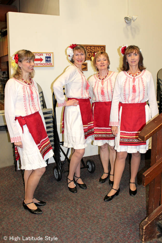 #fashionover40 #fashionover50 Russian dance outfits at Fairbanks International Friendship Day @ High Latitude Style @ http://www.highlatitudestyle.com