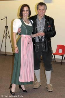 couple wearing Alpine attire