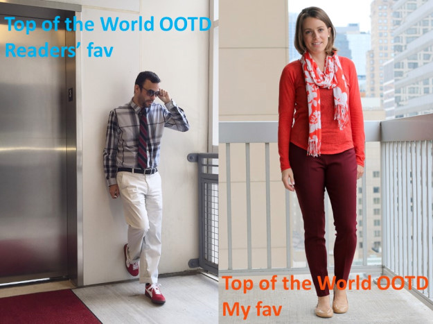 collage of Terry and Jen in their outfits that were the Top of the World OOTD Readers' Fav and My Fav