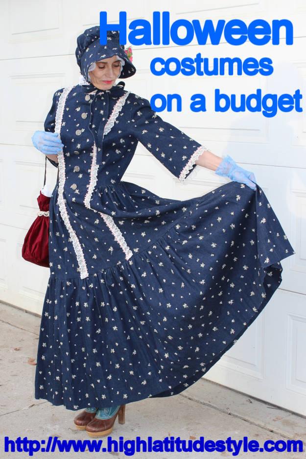 self-sewn Halloween costume on a budget