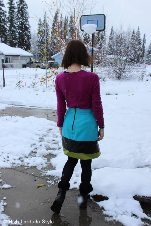 #fashionover50 OOTD after an outage causing snow storm in Interior Alaska