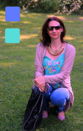 Example 5 of outfit in analogous colors - Guest post by Lorna Mai