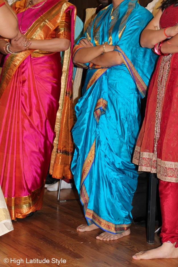 Fairbanksans in bold color saris