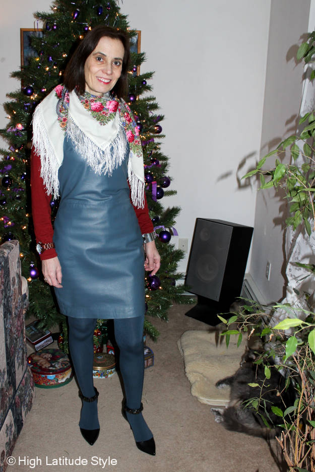 #fashionover40 outfit at the weekly Top of the World Style fashion linkup party