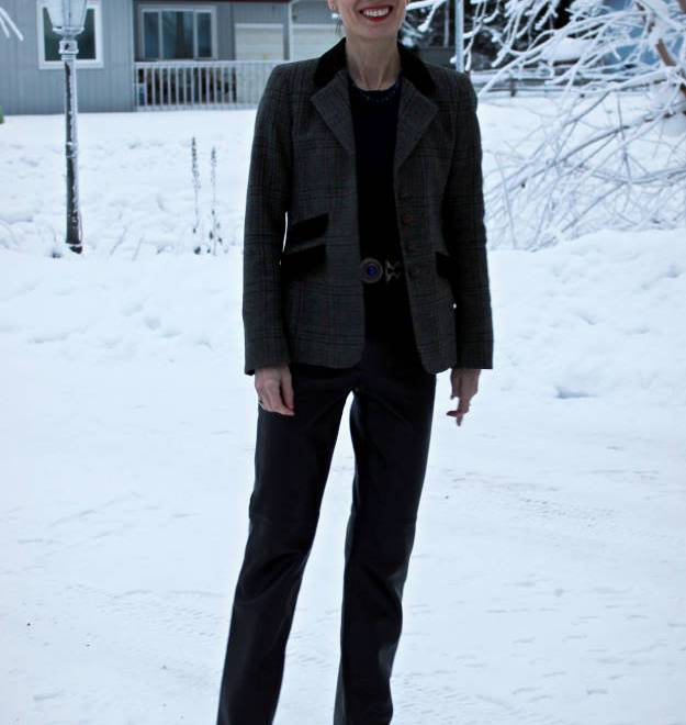 #fashionover40 Alaska winter casual work outfit @ High Latitude Style