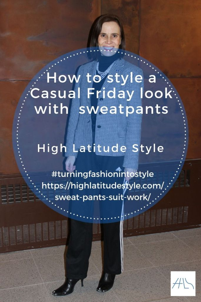 How to style a Casual Friday work look with  sweatpants