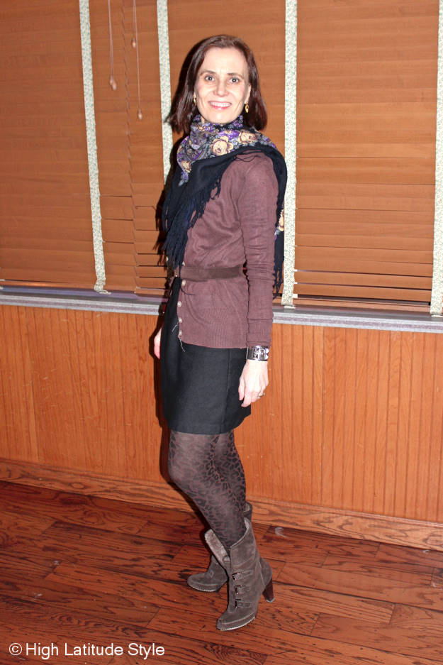 styleist in a little black dress as a business casual outfit