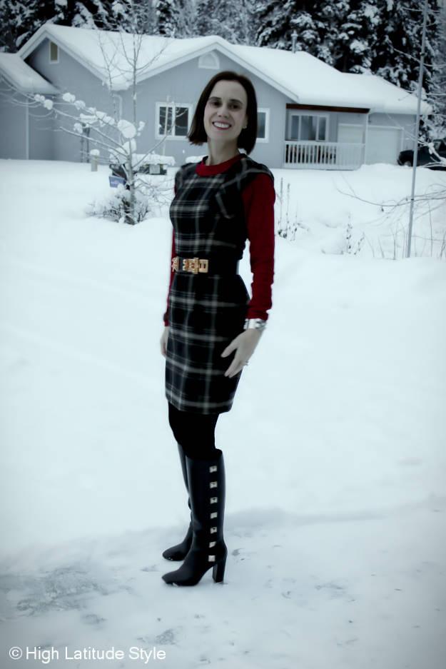 #fashionover50 woman house hunting in Fairbanks in Focus Alaska