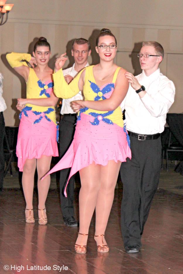 #FocusAlaska dance team in ballroom gowns