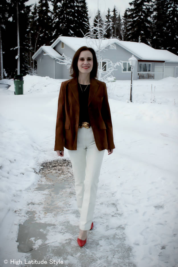 fashionover40 business casual OOTD at the Top of the World style
