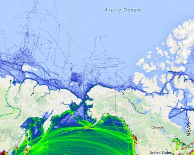 ships in the Alaska Arctic