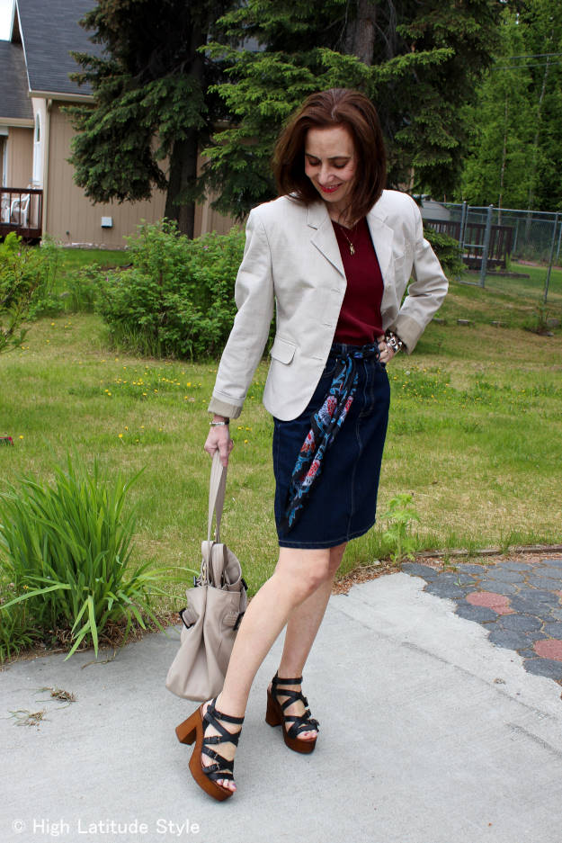 #Musse&Cloud #fashionover40 mature woman wearing chic Malena strappy sandal review