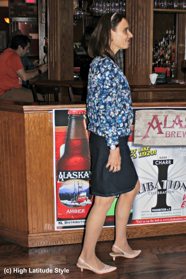 #styleover40 40+ woman in casual work outfit