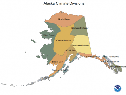#FocusAlaska Alaska climate divisions according to NWS