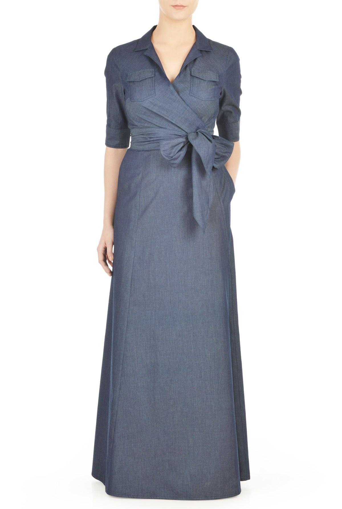 fall trend maxi wrap dress