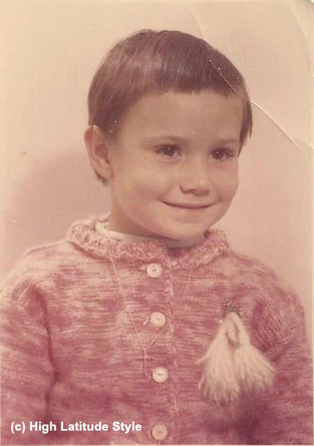 toddler with costume Bambi pin