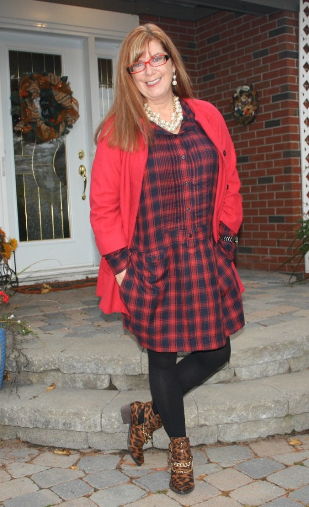 #redheads #fashionover50 redhead wearing red
