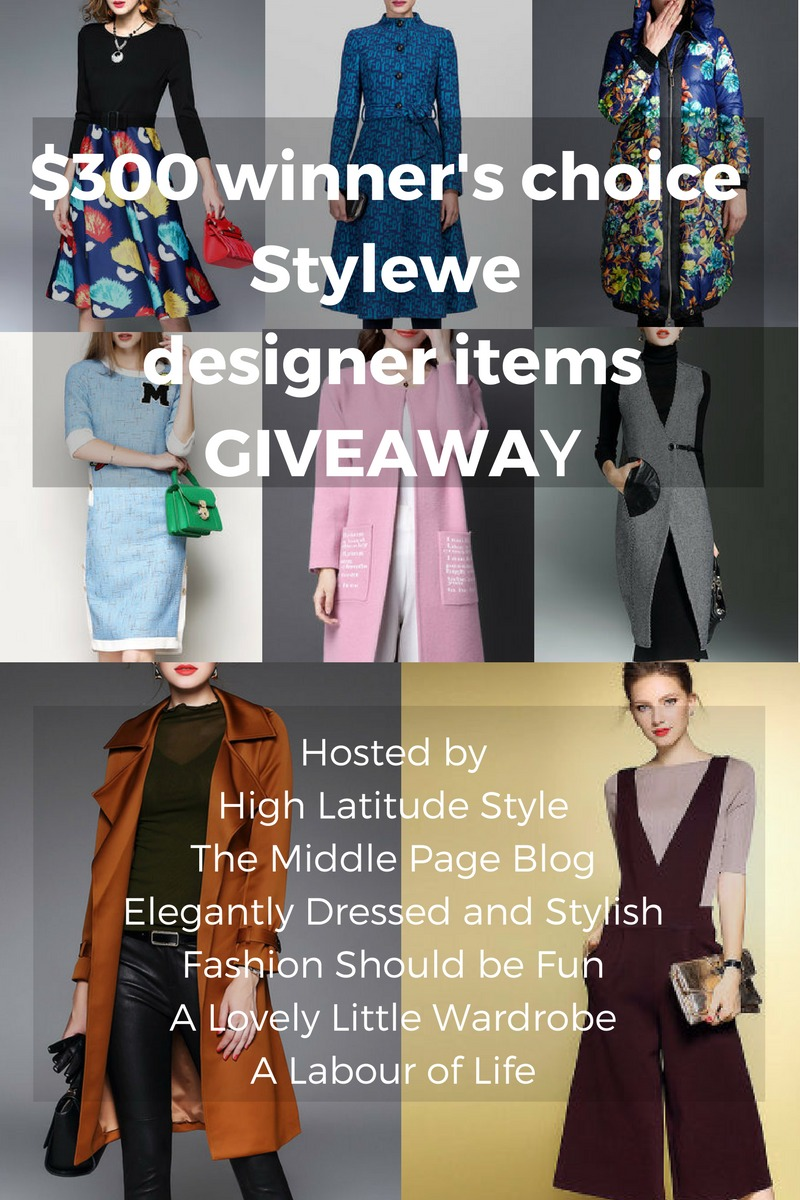 #Stylewe #giveaway $300 winner's choice Stylewe designer clothes giveaway