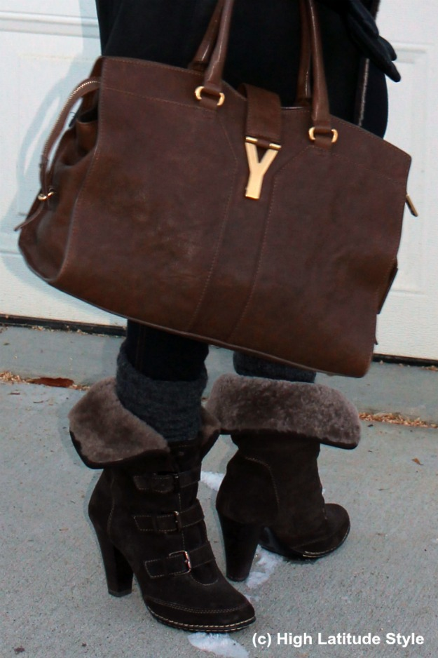 accessories Söfft booties and YSL bag