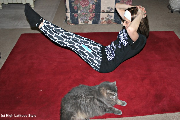 #fashionover50 midlife woman in Fishe Wear outdoor leggings