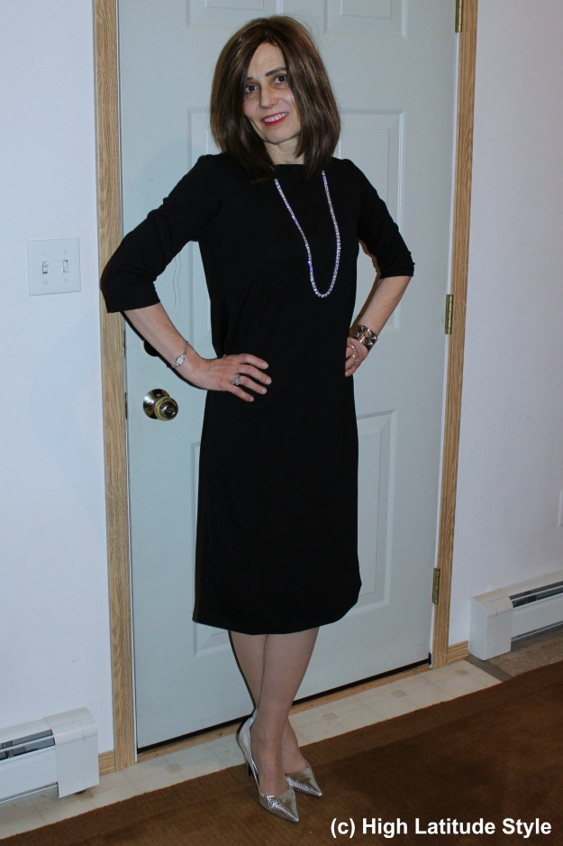 #coveredperfectly mature woman in posh holiday outfit