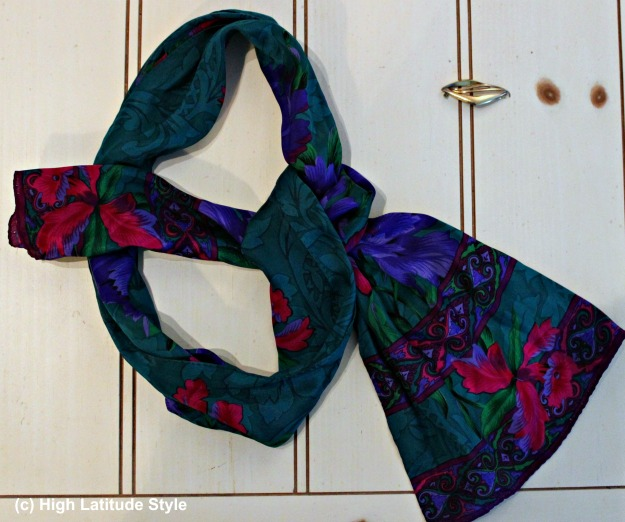 styleover50 printed oblong silk scarf