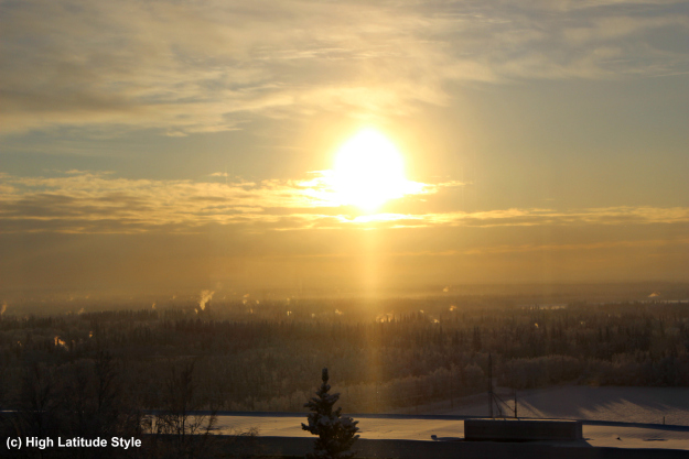 View over Fairbanks and the Tanana Flats