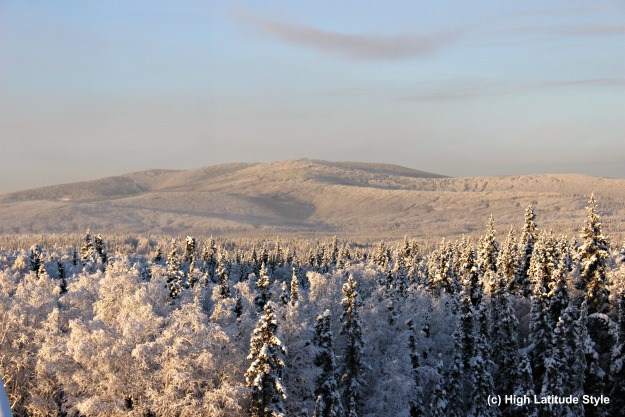 #FocusAlaska snow covered foothills of the White Mountains near Fairbanks
