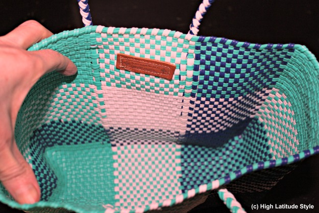#fashionwithapromise view inside of the Mini Stella Tote