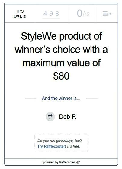 StyleWe giveaway winner