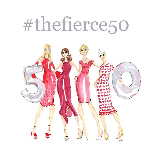 TheFierce50 Artwork illustration credit to @bethbriggsillustration