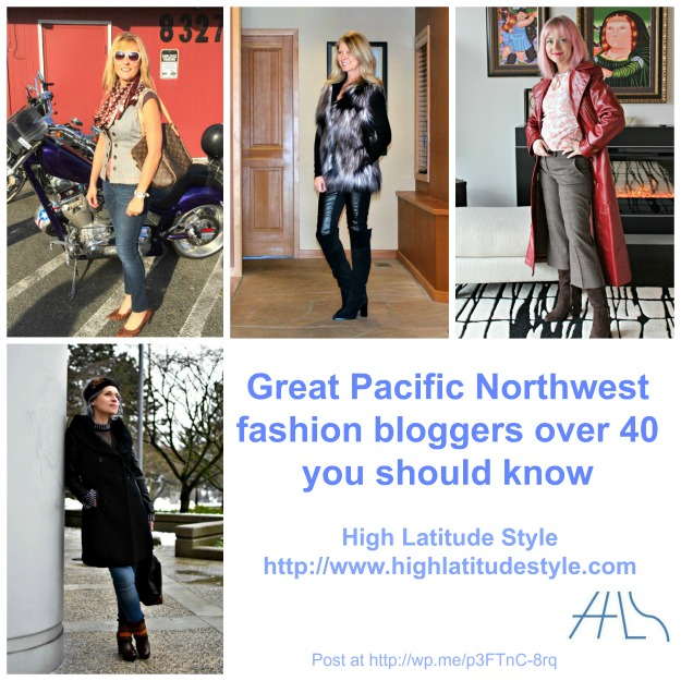 Pacific Northwest fashion blogger over 40 dressing for wet winter and mild summer weather