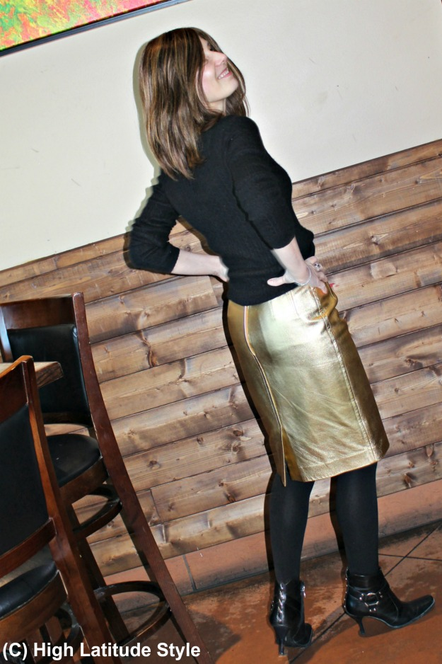 fashion over 50 woman in casual party look