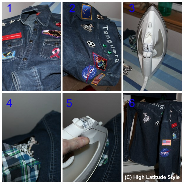 #DIYfashion illustration how to put a patch on a jacket without sewing