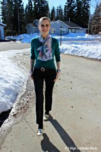 Uno Alla Volta swirl scarf review