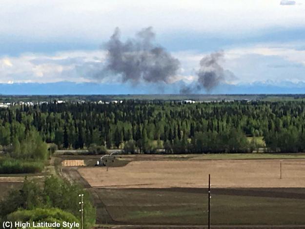 Tanana Flats with smoke