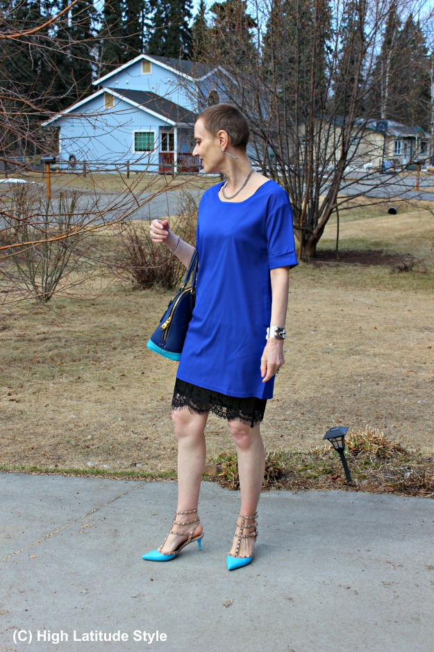 #fashionover50 woman in spring office look