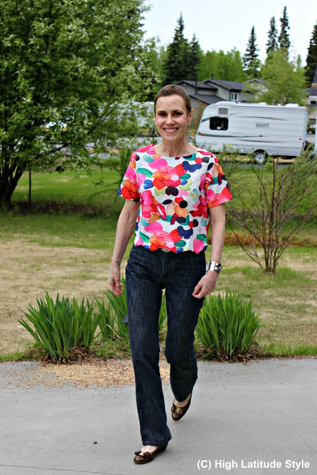 mature fashion woman in Casual Friday look