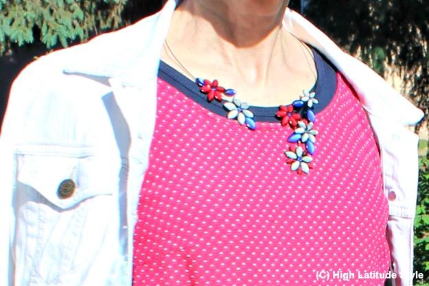 #jewleryover40 Hana's Czech glass flower necklace