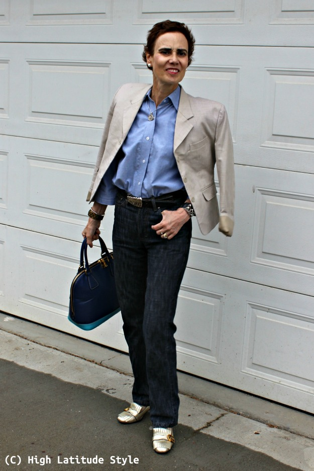 style over 40 woman in business attire