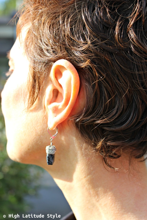 #jewelryover40 lapis semi-precious gemstone earrings