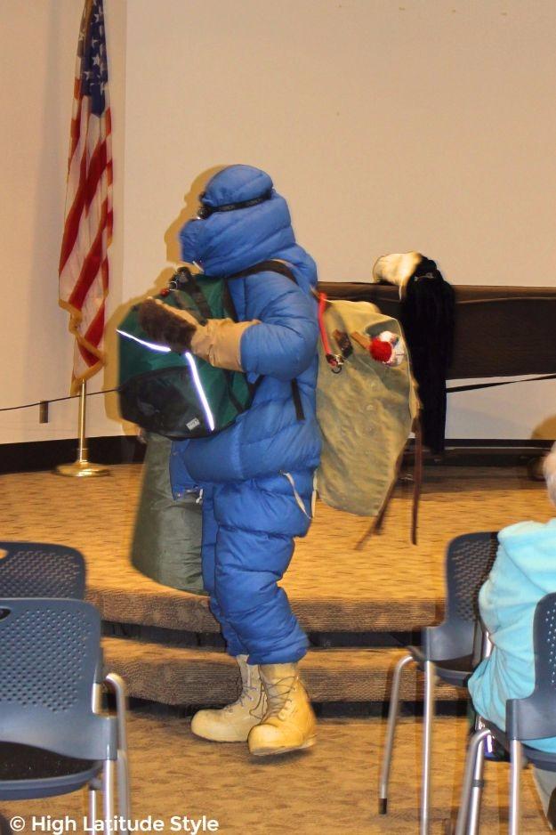#powerwomen woman in Arctic research winter gear