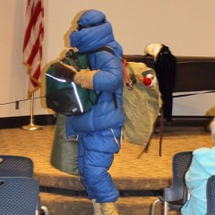 woman in Arctic research winter gear