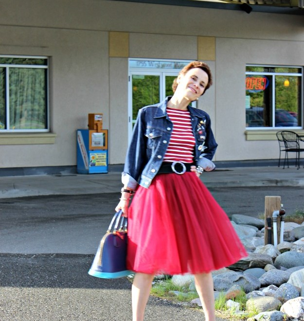 50 plus woman styled in a tulle skirt