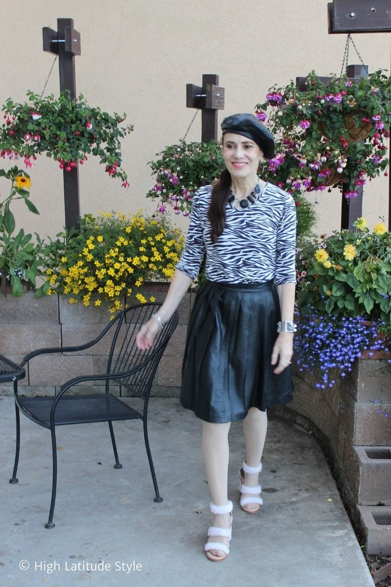 You are currently viewing Pleated Skirts Get an Edge in Leather